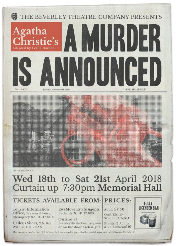 Agatha Christie's, A Murder Is Announced