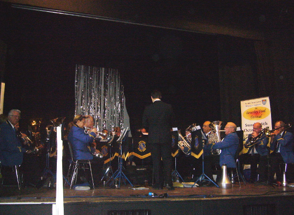 Beverley Brass Band at the Memorial Hall