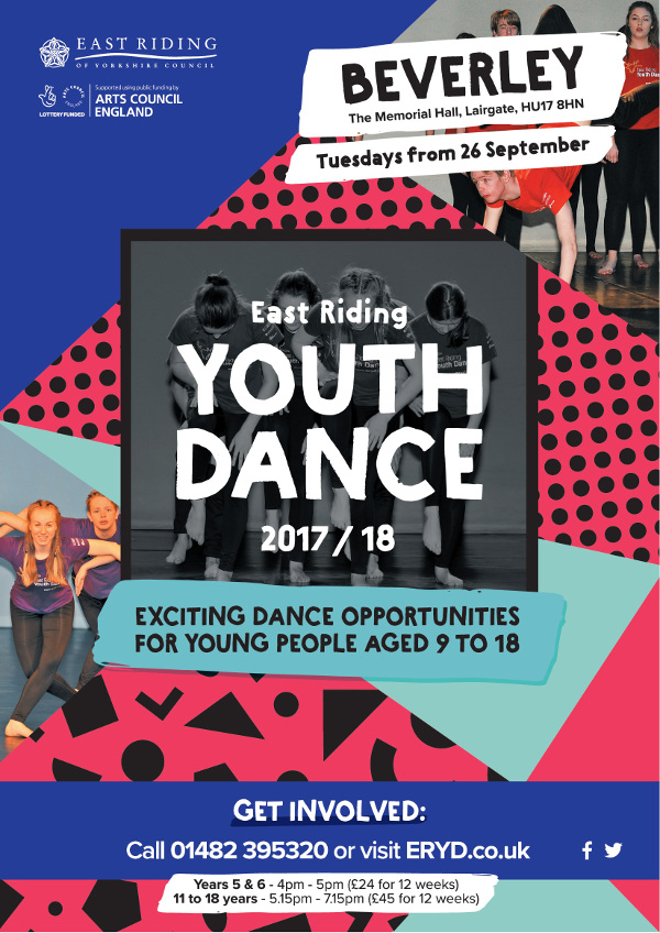East Riding Youth Dance at the Memorial Hall 2017 to 2018 season