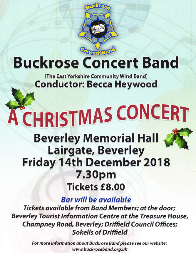 Christmas Concert Beverley, East Yorkshire.