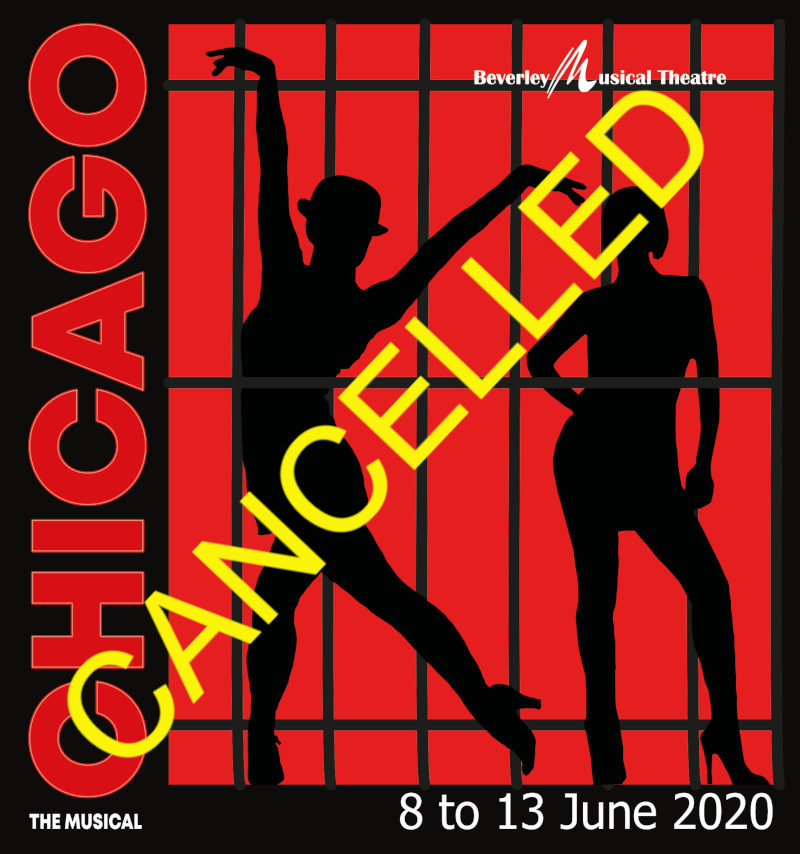 Chicago: The Musical. 8th June to 13th June. CANCELLED