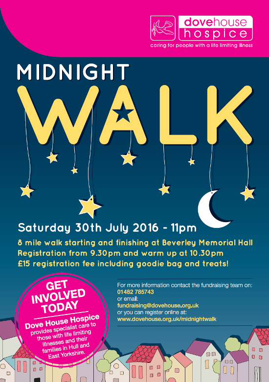 Dove House Charity, Midnight Walk Beverley