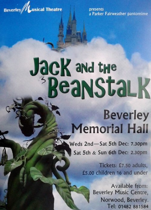 Jack and the Beanstalk pantomime December 2015
