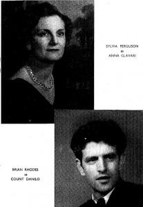 Sylvia Furguson as Anna Glavari and Brian Rhodes as Count Danilo
