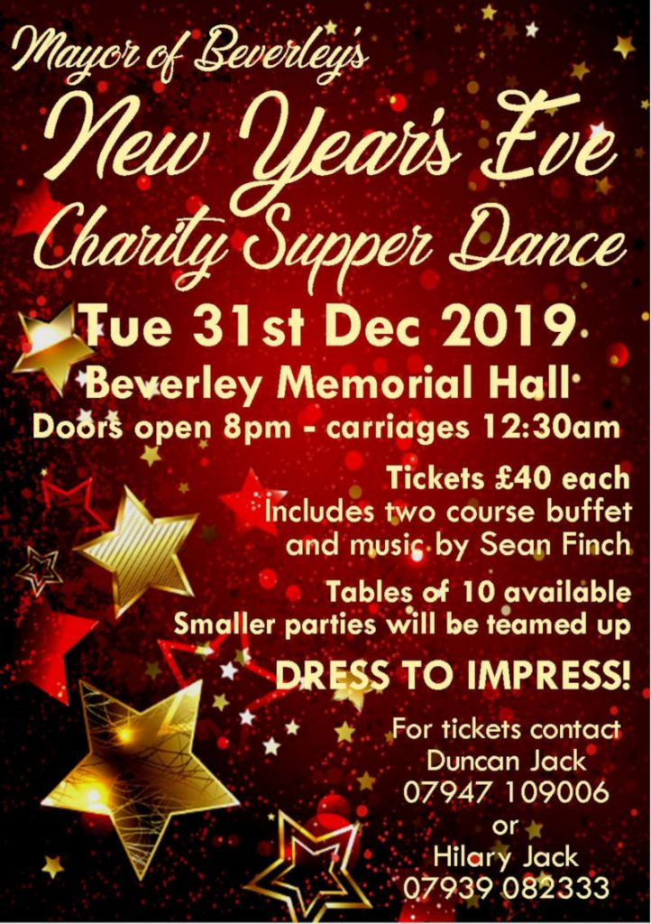 poster-New Year's Eve Charity Dance 31st December 2019