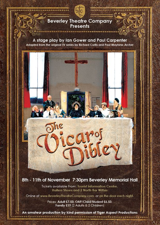 The Vicar of Dibley, comedy stage play, november 2017.