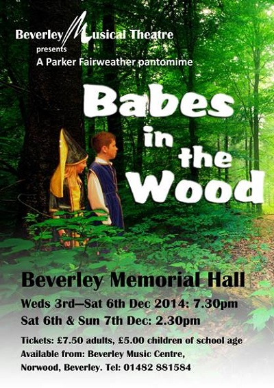 Beverley Christmas Pantomime: Babes in the Wood