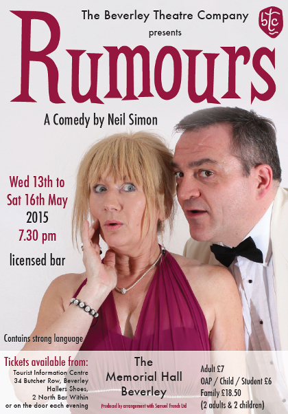 Rumours, comedy theatre