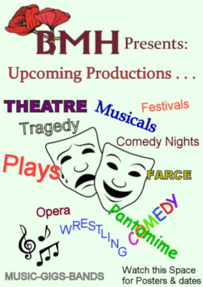 Up Coming Events at Beverley Memorial Hall - poster