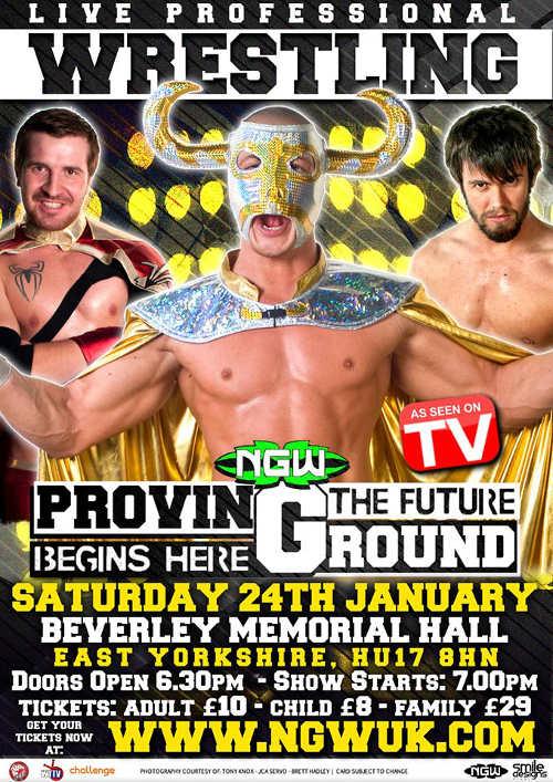 Wrestling in Beverley, East Yorkshire.